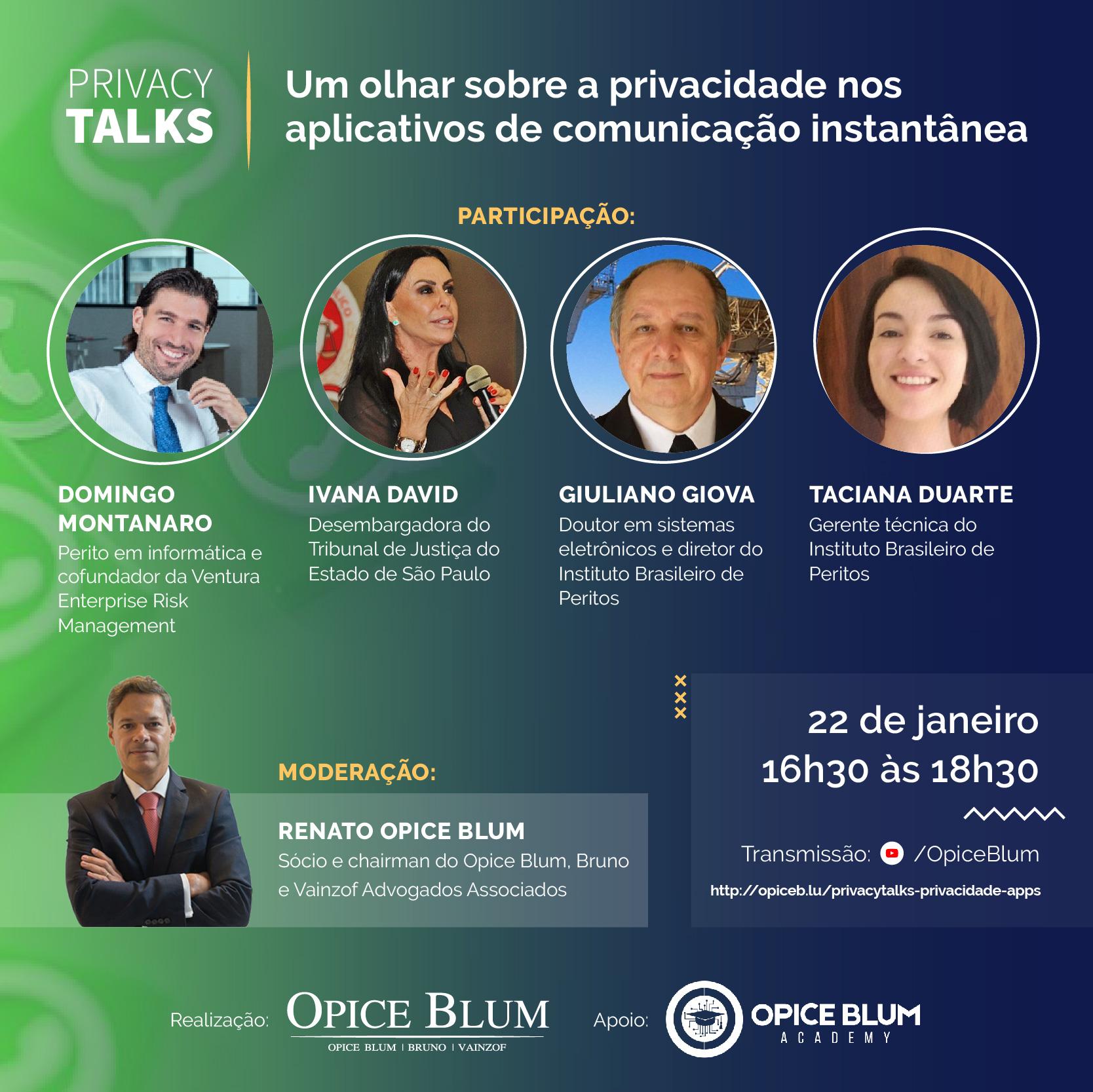 Privacy Talks: privacidade nos aplicativos de comunicação instantânea